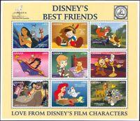 "Ghana 1996 Disney/""Best Friends""/Bambi/Pinocchio/Mowgli/Bears/Fox 9v sht (b434)"
