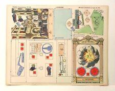 Imagerie D'Epinal No 548 L'Incendie Grandes Constructions Mécanisme