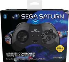Retrobit - Sega Saturn Manette 8 boutons sans fil Bluetooth Noire neuf sous Blis