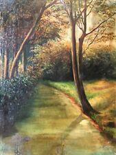 Sous bois anonyme XIXe peinture sur bois