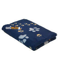 Tapis Confortbed Vetbed Dry Extra Traces Pattes 26 mm bleu 100x150 cm