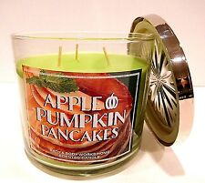BATH & BODY WORKS APLLE PUMKIN PANCAKES SCENTED CANDLE WITH DECOR LID 14.5oz NEW