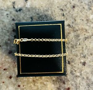 Brand new 9ct Yellow Gold fine Belcher Bracelet with cartier clasp