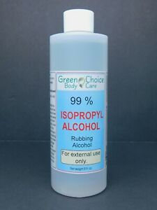 99 % Isopropyl Alcohol 8 fl. oz, Rubbing Alcohol for Sanitizing, Cleaning.