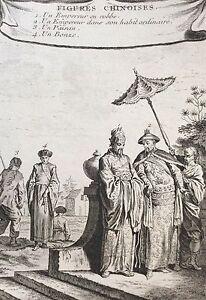 China Figuren Chinesisch Kaiser Bäuerisch Gravur Druck 1750 Asien Asia China