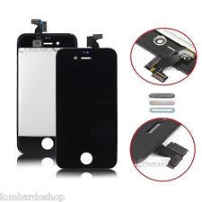 TOUCH SCREEN LCD DISPLAY RETINA + FRAME PER APPLE IPHONE 4 4G VETRO SCHERMO NERO