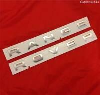 NEW GENUINE RANGE ROVER SPORT BONNET BOOT BADGE DECAL LETTERING*Silver*
