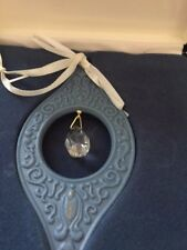 Wedgwood Porcelain Blue 1997 Millennium Gems Reflection Ornament Jasperware