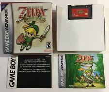 Legend Of Zelda Minish Cap Gameboy Advance GBA CIB Complete Authentic GAME BOY
