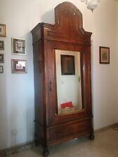 Armadio antico umbertino fine '800 noce 235 cm  PADOVA originale specchio