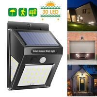 Outdoor Solar PIR Lights Motion Sensor Wall Waterproof Garden Yard Lamp 30 LED