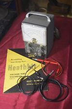 Vintage Heathkit V-7 Vacuum Tube Voltmeter Working