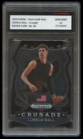 LAMELO BALL 2020-21 PANINI PRIZM 1ST GRADED 10 ROOKIE CARD RC CHARLOTTE HORNETS