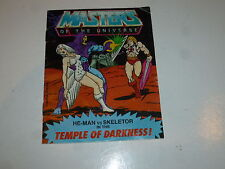 "MASTERS OF THE UNIVERSE ""He-Man"" Mini Comic - Temple of darkness! - Mattel Comic"