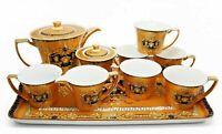 10 Piece Euro Porcelain Medusa Fine Bone China Tea Set - Premium Full Service