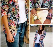 Rare! ZARA Satin Floral Printed Blazer Jacket Large L