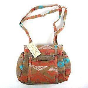 Women's Southwestern Pattern Brown Purse Handbag Canyon Sky High Quality