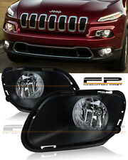 For 2014 - 2017 Jeep Cherokee Clear Fog Lights Full Complete Kit Switch+Wiring