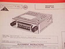 1959 MOTOROLA AM RADIO SERVICE MANUAL MODEL 406 CHEVROLET FORD CHRYSLER DODGE