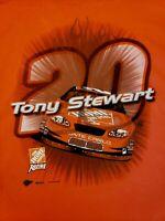 Nascar Mens T-shirt Sz XL Tony Stewart 20 Cotton 2003 Monte Carlo Racing Orange