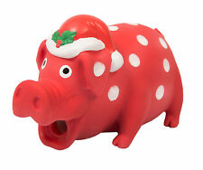 "Armitage Christmas Festive Piglet Latex Dog Toy 15cm (6"") Xmas Squeaker"
