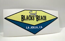 Surf Black's Beach La Jolla California | San Diego Surfing Decal | Vinyl Sticker