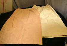 Vintage 2 Dress Skirt Lot~Cream / Peach Ultrasuede~Handsewn~Elast ic Waist