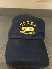 Coker College Hat Cap Adjustable Strap Hartsville, SC Coker Cobras NCAA