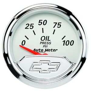 Autometer 1327-00408 Air-Core SSE Engine Oil Pressure Gauge 0-100PSI for Chevy