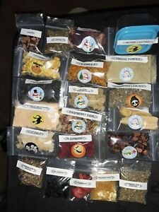 Land Hermit  crab  food 1 plastic containers 13 2x3 bags 7 2x2 bags  organics