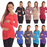 Lovely Maternity Asymmetric Neck Top Tunic Pregnancy Size 8 10 12 14 16 18 6053