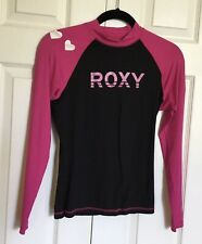 Girls ROXY Pink / Black Rashguard Body Swim Top  - Size 14