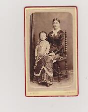 TRES BELLE PHOTO DE CABINET-BELLE JEUNE FEMME et son ENFANT- H.KIRSCH/CHAUNY