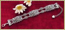 Super Trachtenarmband mit fein verziertem Blumenmuster - Dirndl Trachten Armband