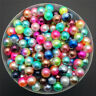 NEW 3/4/5/6/8mm Color Acrylic No Hole Round Pearl Loose Beads Jewelry Making C