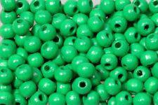 Holzperlen 10mm hellgrün, glänzend, 500 Stück