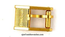 BULOVA VINTAGE WRISTWATCH BUCKLE 6MM GOLD PLATED SPARES REPAIRS L74