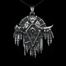 Horde Pendant, World of Warcraft, WoW, sterling silver, handmade