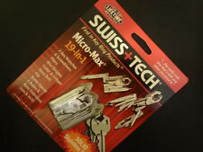 Swiss Tech ST53100 Polished SS 19-in-1 Micro Pocket Multitool for Camping