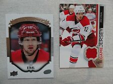 Eric Staal 2015/16 UD Portraits & `14/15 UD Game Jersey Card Carolina Hurricanes