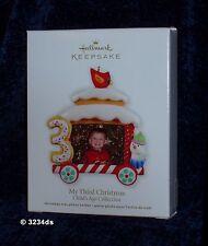 2012 Hallmark MY THIRD CHRISTMAS Photo Holder Child's Age Collection Ornament