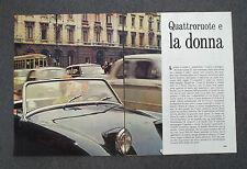 AC82 - Clipping-Ritaglio -1963- QUATTRORUOTE E LA DONNA