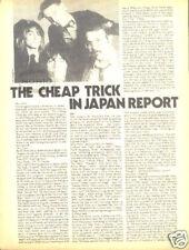 Cheap Trick In Japan Pinup vintage 70's rock