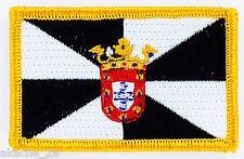 PATCH ECUSSON BRODE DRAPEAU CEUTA ESPAGNE  INSIGNE THERMOCOLLANT NEUF FLAG