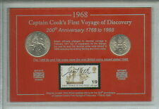 More details for captain cook first voyage of discovery explorer coin & stamp collector gift set