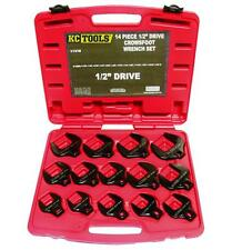 "KC Tools 11318 Crows Foot Wrench Set 1/2""dr 14pc Imperial"