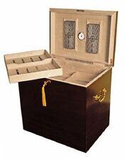 Medici 500 Cigar Deep Walnut Cabinet Foot Locker Humidor