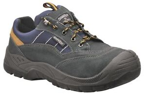 Great Value Steelite Suede Leather Hiker Safety Work Trainer Shoe Sizes 6 to 12