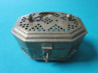 ANTIQUE CHINESE BRASS CRICKET BOX 6 X 4 1/2""