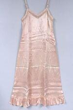 Vtg Mary Barron Full Slip Peach Rayon Satin Deadstock Nos 1940S Nwt 34 Bust S